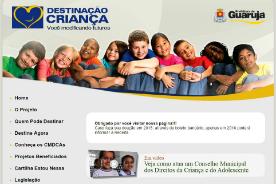 Destinação Criança recebe doações até 30 de abril