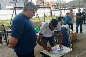 Projeto Jogando com Alegria recebe apoio dos ídolos do Santos FC, Clodoaldo Santana, Manoel Maria e Rui de Rosis